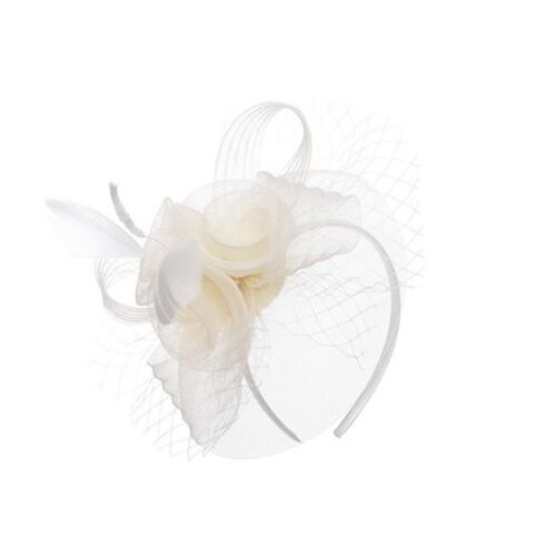 Ivory Flower Fascinator
