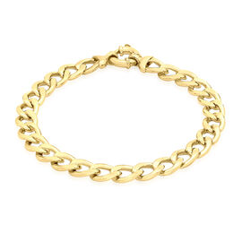 Close Out Deal Italian 9K Y Gold Large Flat Curb Bracelet (Size 8), Gold Wt 9.91 Gms.