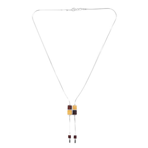 Tucson Collection Baltic Amber Necklace (Size 17) in Sterling Silver 12.000 Ct.