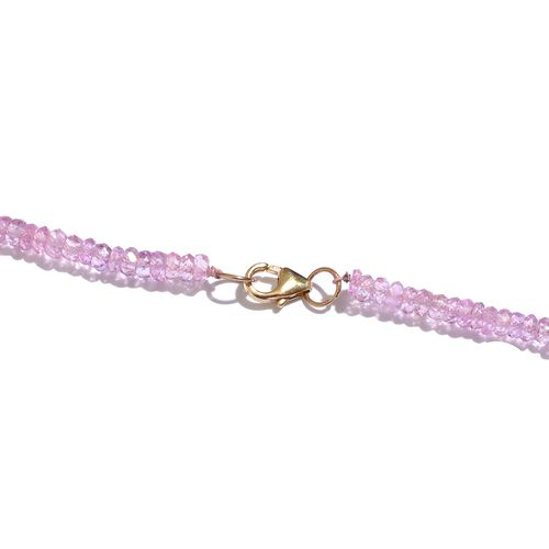 14K Y Gold Pink Sapphire (Rnd) Necklace (Size 18) 41.670 Ct.