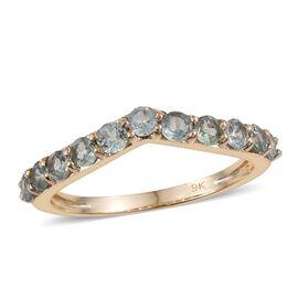 9K Yellow Gold 1 Carat Narsipatnam Alexandrite Wishbone Ring