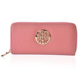 Arbra Soft Pink Colour Wallet (Size 19.5x9.5x3 Cm)