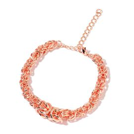 Limited Available- Chunky Byzantine Bracelet (Size 7.5 with 1 inch Extender) in Rose Gold Tone