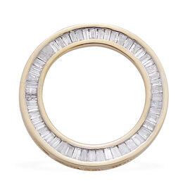 9K Y Gold SGL Certified Diamond (Bgt) (G-H/I3) Circle of Life Pendant 0.500 Ct.