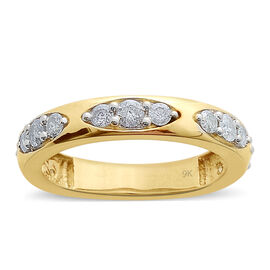 9K Y Gold SGL Certified Diamond (Rnd) (I3/ G-H) Ring 1.000 Ct.