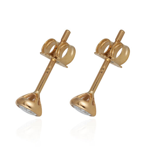 Diamond 9K Y Gold Earring  0.250  Ct.