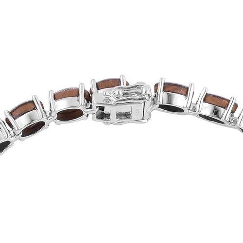 Australian Boulder Opal (Ovl) Bracelet (Size 7.5) in Platinum Overlay Sterling Silver 16.500 Ct.
