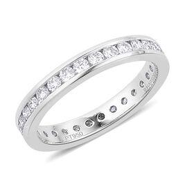 RHAPSODY 950 Platinum IGI Certified Diamond (Rnd) (VS/F) Full Eternity Band Ring 1.000 Ct.