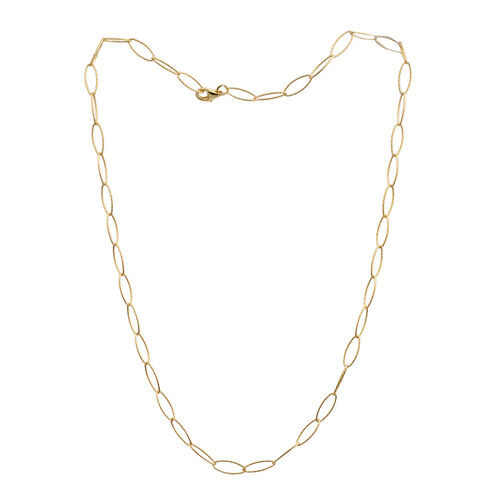 JCK Vegas Collection 14K Gold Overlay Sterling Silver Oval Link Chain (Size 20), Silver wt 4.80 Gms.