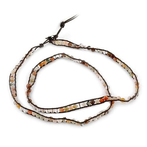 Designer Inspired Multi Colour Rutile Quartz Wrap Bracelet 200.00 Ct.