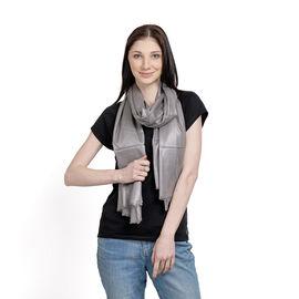 100% Modal Silver Foil Print Grey Colour Scarf (Size 180x70 Cm)