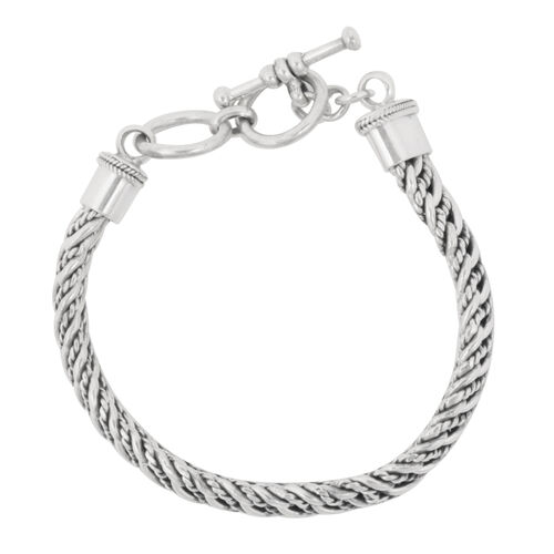 Royal Bali Collection Sterling Silver Bracelet (Size 8), Silver wt 48.43 Gms.