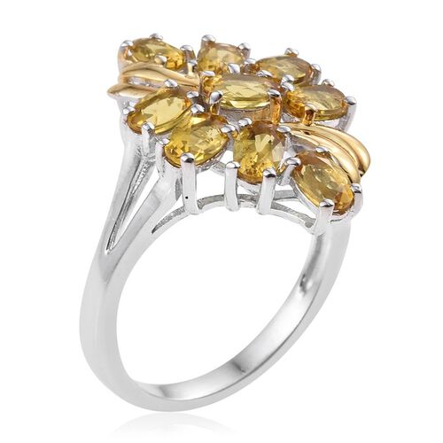 Marialite (Ovl) Ring in Platinum and Yellow Gold Overlay Sterling Silver 1.750 Ct.