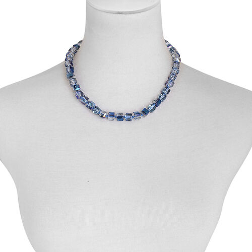 Simulated Tanzanite Ice Cube Necklace (Size 18)