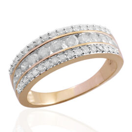 9K Y Gold GSI Certified Diamond (Rnd) (I 3 /G-H) Ring 1.000 Ct.