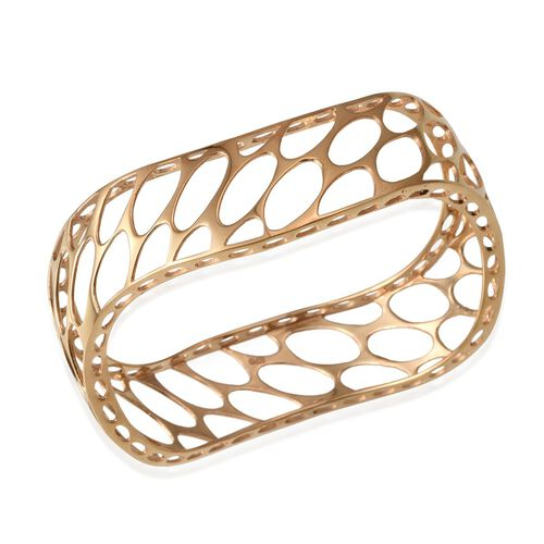 ION Plated 18K Yellow Gold Bond Bangle (Size 7.5)