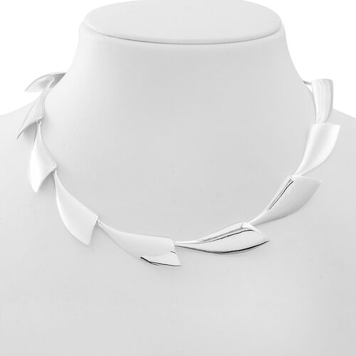 Designer Inspired Sterling Silver Continual Wing Necklace (Size 18 with 1 inch Extender), Silver wt 40.00 Gms.