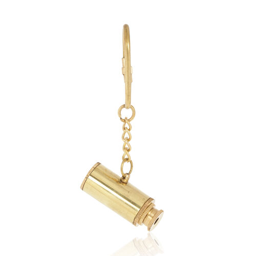 (Option 2) Telescope Key Chain (with Extender) in Gold Tone