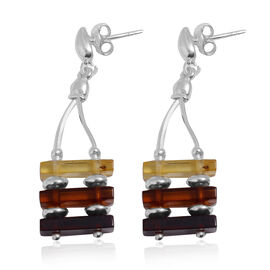Tucson Collection Baltic Amber Earrings (with Push Back) in Sterling Silver 12.000 Ct.