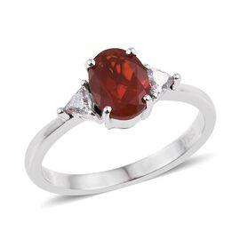 RHAPSODY 950 Platinum Jalisco Fire Opal (Ovl 1.00 Ct), Diamond Ring 1.250 Ct.