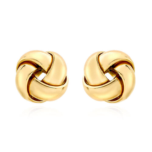 Close Out Deal ILIANA 18K Y Gold 4 Way Knot Stud Earrings (with Push Back), Gold wt 1.40 Gms.