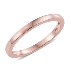 Stacker Plain Band Ring in Rose Overlay Silver