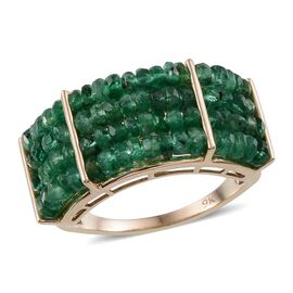 9K Y Gold AAA Kagem Zambian Emerald (Rnd) Ring 10.000 Ct.