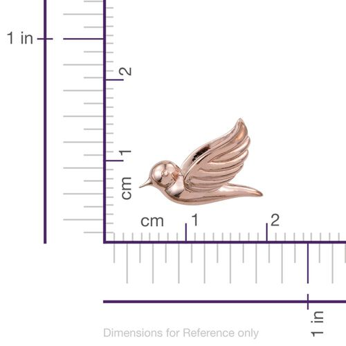 Silver Flying Bird Pendant in Rose Gold Overlay, Silver wt. 3.31 Gms.