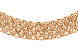 Close Out Deal 9K Rose Gold Bismark Necklace (Size 17), Gold wt 11.50 Gms.