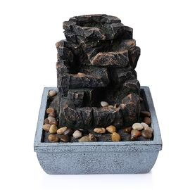(Option-1) Home Decor - Rock and Pebbles Water Fountain with Electric Fitting