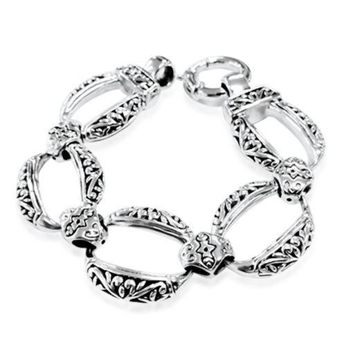 Thai Sterling Silver Bracelet (Size 7.5), Silver wt 27.00 Gms.