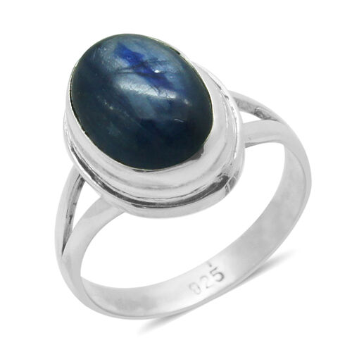 Royal Bali Collection Himalayan Kyanite (Ovl) Solitaire Ring in Sterling Silver 6.410 Ct.