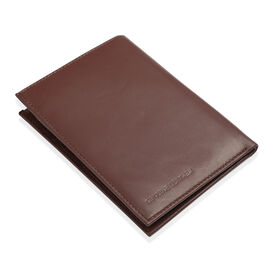 Genuine Leather RFID Blocker Wallet with Card Holder in Burgundy Colour (Size 15.5x11.5 Cm)