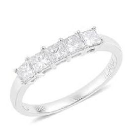 RHAPSODY 950 Platinum 1 Carat IGI Certified Diamond VS E-F 5 Stone Ring