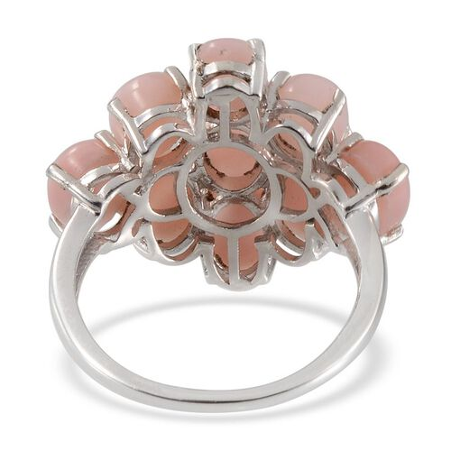 Peruvian Pink Opal (Ovl) Ring in Platinum Overlay Sterling Silver 6.750 Ct.