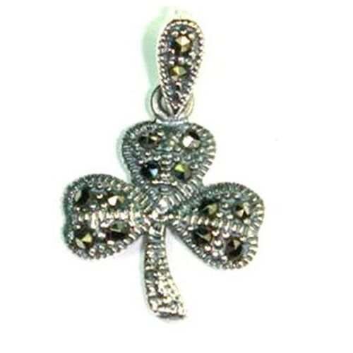 Swiss Marcasite (Rnd) Pendant in Sterling Silver 2.00 Ct.