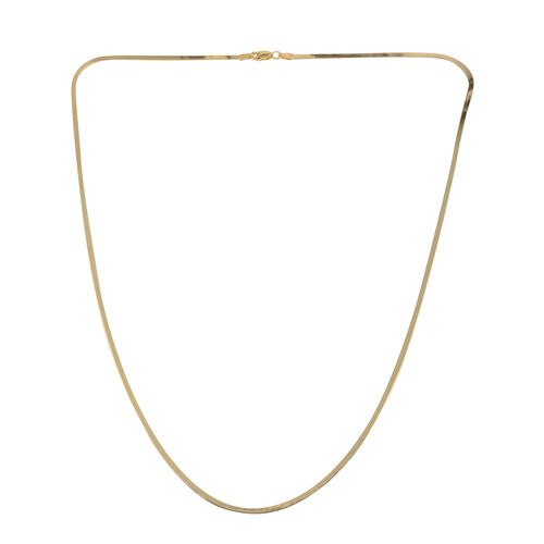 JCK Vegas Collection 14K Gold Overlay Sterling Silver Flat Snake Chain (Size 24), Silver wt 4.70 Gms.