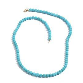 Jewels of India 14K Y Gold Arizona Sleeping Beauty Turquoise Necklace (Size 20) 81.900 Ct.