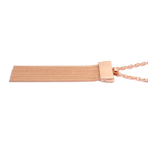 Tassel Necklace (Size 26 with Extender) in Rose Gold Tone
