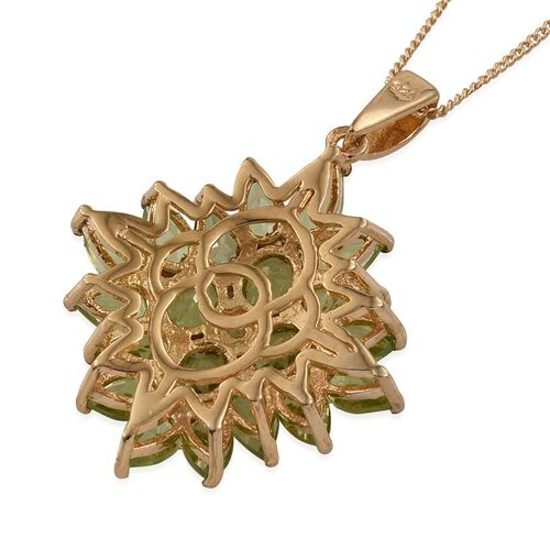 AA Hebei Peridot (Ovl) Pendant with Chain in 14K Gold Overlay Sterling Silver 5.250 Ct.