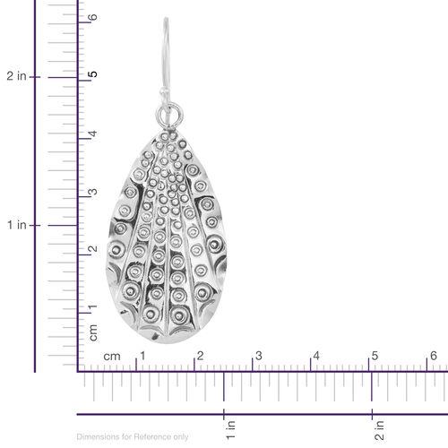 Designer Inspired Sterling Silver Hook Earrings, Silver wt 6.23 Gms.