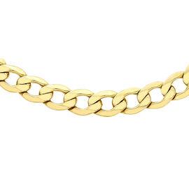 OTO - Italian Designer 9K Y Gold Diamond Cut Curb Necklace (Size 24), Gold wt 7.60 Gms.