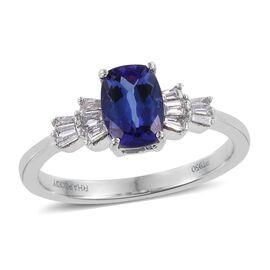 RHAPSODY 950 Platinum 1.75 Carat AAAA Tanzanite Ring With Diamond VS E-F