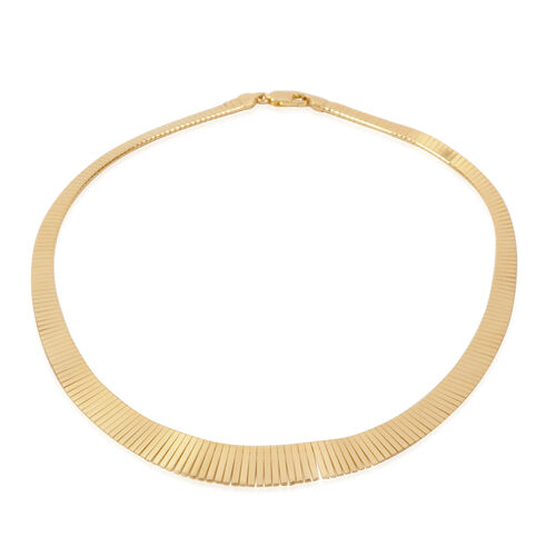 14K Gold Overlay Sterling Silver Necklace (Size 18), Silver wt 27.00 Gms.