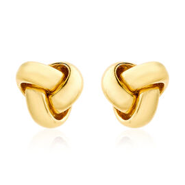 OTO - Close Out Deal 9K Y Gold Triple Knot Stud Earrings