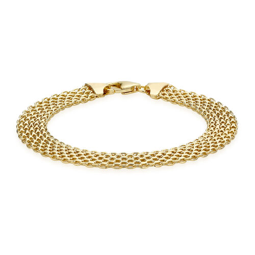 Close Out Deal 9K Y Gold Bismark Bracelet (Size 7.5), Gold Wt. 5.30 Gms.