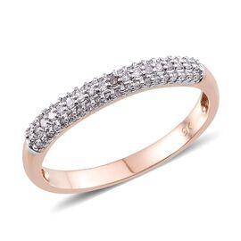 Very Rare 9K Rose Gold Natural Pink Diamond (Rnd) Ring 0.250 Ct.
