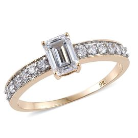 9K Y Gold (Oct) Ring Made with SWAROVSKI ZIRCONIA