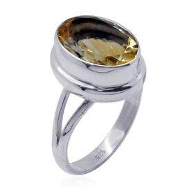 Royal Bali Collection Citrine (Ovl) Solitaire Ring in Sterling Silver 5.540 Ct.