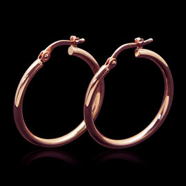 JCK Vegas Collection 9K R Gold Hoop Earrings (with Clasp)